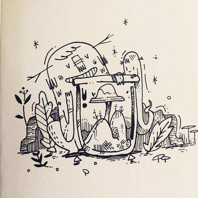 #inktober #inktober2018 #jar #monsters #εικονογράφηση #illustragram #doodle #characterdesign