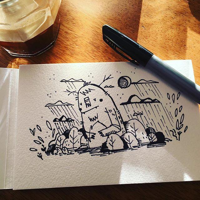 #ink #sketchbook #doodle #εικονογράφηση #sounas #inking #μελάνι