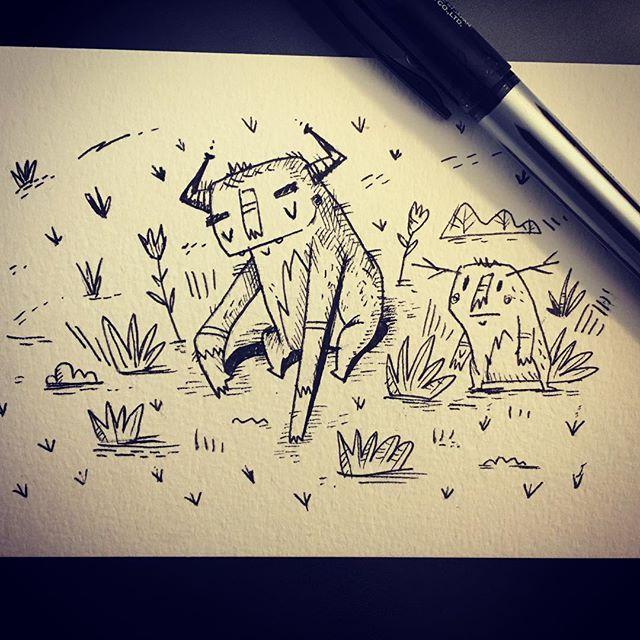 #ink #drawing #doodle #instagram #sketchbook #pen #εικονογράφηση #σχέδιο #σκίτσο #monster #μελάνι #illustragram