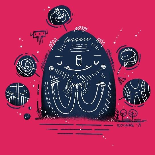 #ipadart #doodle #monster #ipadartist #procreate