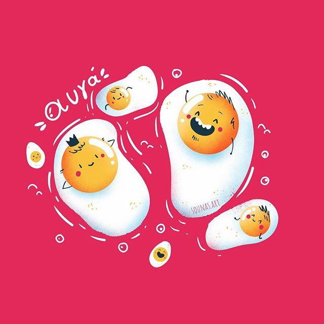 :::Eggs /Αυγά - made with Tayasui Sketches:::#εικονογράφηση #ipadart #illustration #tayasuisketches #eggs #ipadartwork #character_design #illustration_best #illustration_daily #timelapse #video #sounas #videoprocess #sketch #drawing