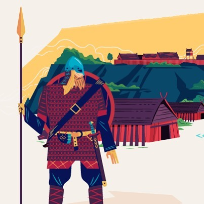 #viking #wip #workinprogress #illustration #vector #adobeillustrator #εικονογράφηση #sounas #dnd  #illustrator