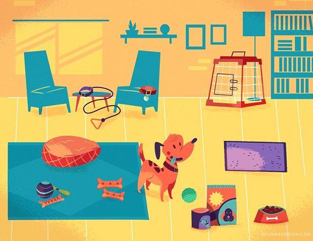 :::Dog supplies::: #dog #vector #animal #adobeillustrator #illustration #εικονογράφηση #illustrator