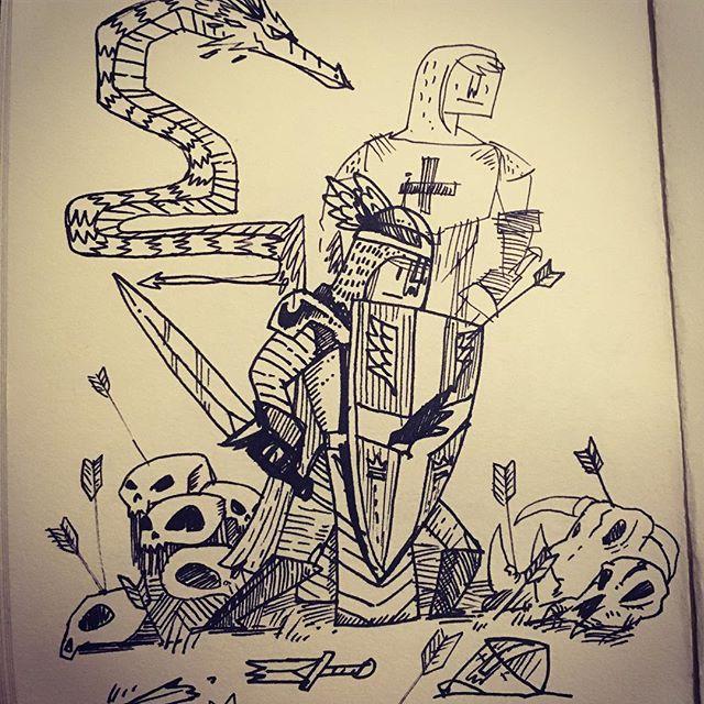 #doodle #ink #knight #sketch #sketchbook #pen #sketching #doodles