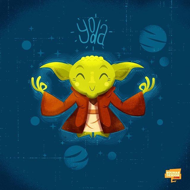 #yoda #yoga #illustration #starwars #εικονογράφηση #πόλεμοςτωνάστρων #illustragram