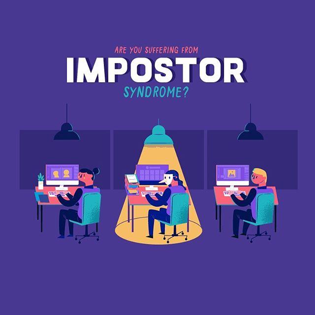 :::Impostor Syndrome illustration:::#illustragram #infographic #illustration #εικονογράφηση #impostorsyndrome #vector #vectorart