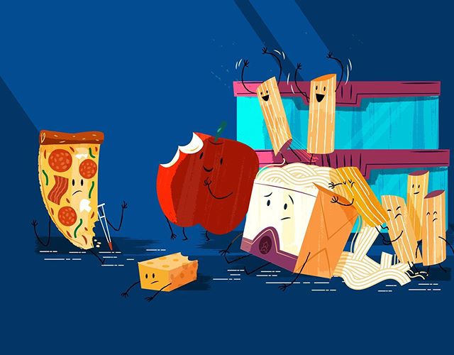 #food #character_design #leftover #leftoverfood #εικονογράφηση #pizza #remains