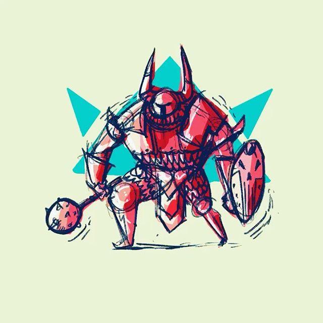 #procreateapp #ipadart  #εικονογράφηση #σχέδιο #πολεμιστής #dnd #doodle #chaoswarrior #illustragram #timelapse