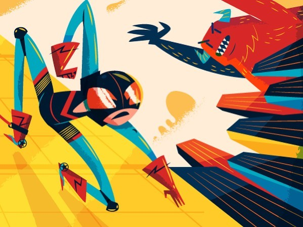 :::Skyscraper superhero/Υπερήρωας και ουρανοξύστες::: Vector illustration #character_design #monster #illustration #instart #dailyart #illustragram #vector #adobedrawing #sounas #adobeillustrator #superhero #εικονογράφηση #greekdesign #greekart
