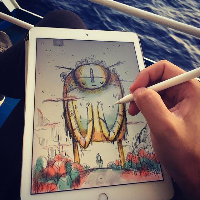 #doodle #σκίτσο #sea #θάλασσα #illustragram #ipadart #madewithpaper #sketch #illustration #dailyart #inspirationart #summer