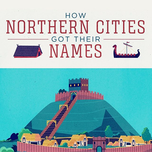 :::How Northern Cities got their names- part 2:::Illustration project based on famous cities & towns name origin, for TransPennine Express train company.#vector #illustration #train #city #celt #history #adobeillustrator #ukhistory