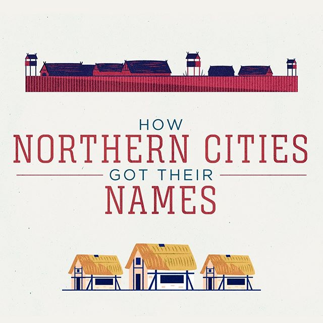 :::How Northern Cities got their names - part 1:::Illustration project based on famous cities & towns name origin, for TransPennine Express train company.#vector #illustration #train #city #celt #history #adobeillustrator #ukhistory