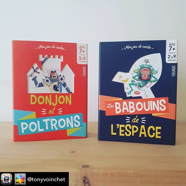 Repost from @tonyvoinchet using @RepostRegramApp - Jeux de cartes conçus pour @fleuruseditions ~ dès 7 ans ♤ Donjon et poltrons☆ Illustré par @sounas_ilias ♡#jeuxdecartes #cartes #heroicfantasy #donjonsetdragons #illustrations