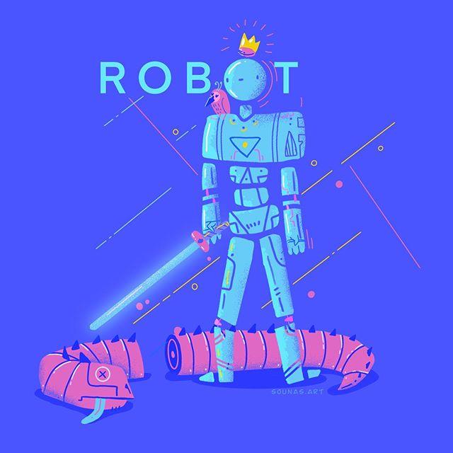 :::Robot Dragon::: quick illustration in Procreate#ipadart #ipadartwork #dragon #robot #illustragram #illustration #procreate #procreateapp #doodle #sketch #dailyart