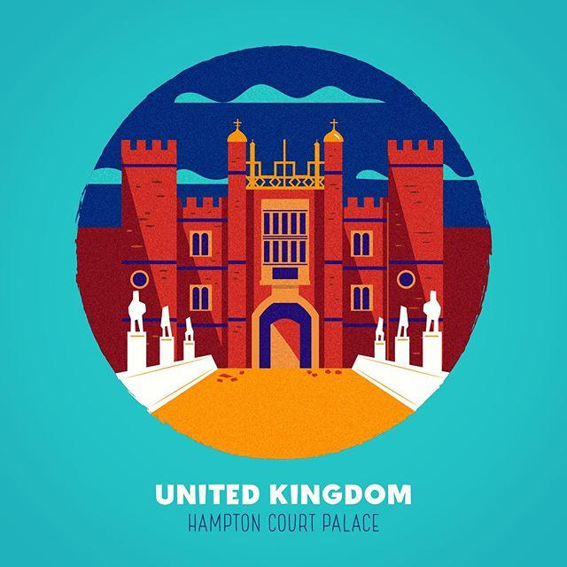 :::Spooky Places - UK::: #illustration #vector #building #architecture #palace #adobeillustrator #buildingvectors