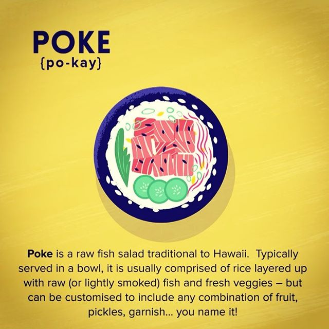 :::Poke food illustration::: #vector #gif #foodillustration #poke #Hawaii #cuisine