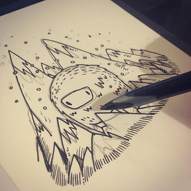 #doodle #ink #wip #sketchbook #pen #sketch