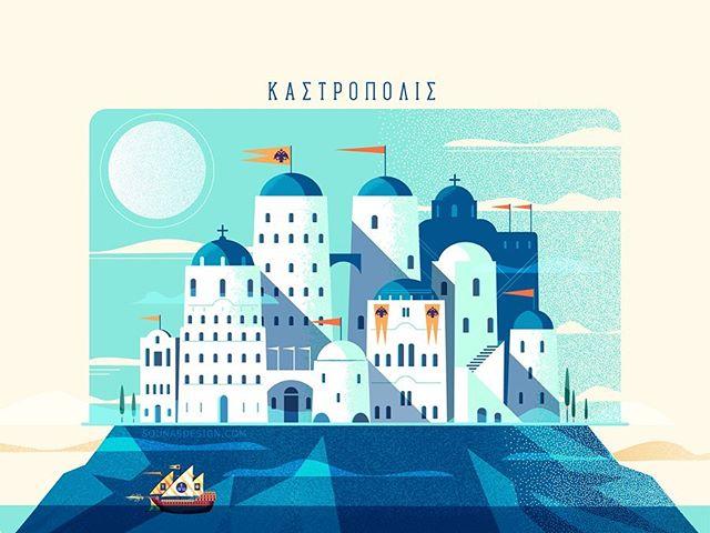:::Kastropolis - fantasy fortress city inspired by medieval greek-byzantium architecture::: Vector art #adobedrawing #adobeillustrator #illustration #sounas #εικονογράφηση #building #srchitecture #vectorart #greek #byzantium #fantasy #rpg #dreamcity #greece #greekisland #instaart #dailyart #illustratoroninstagram #picame #designinspiration #build