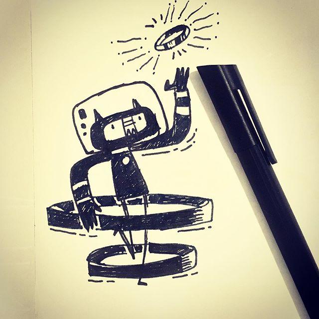 :::Inktober 2019 : Ring::: #inktober #ink #inktober2019  #inktoberday1 #ring #sketch #doodle #athens #greece #illustration