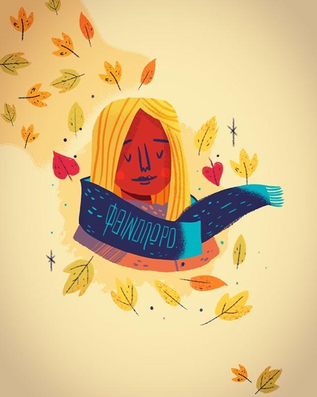 :::Autumn Girl::: #doodle #sketch #quick #fall