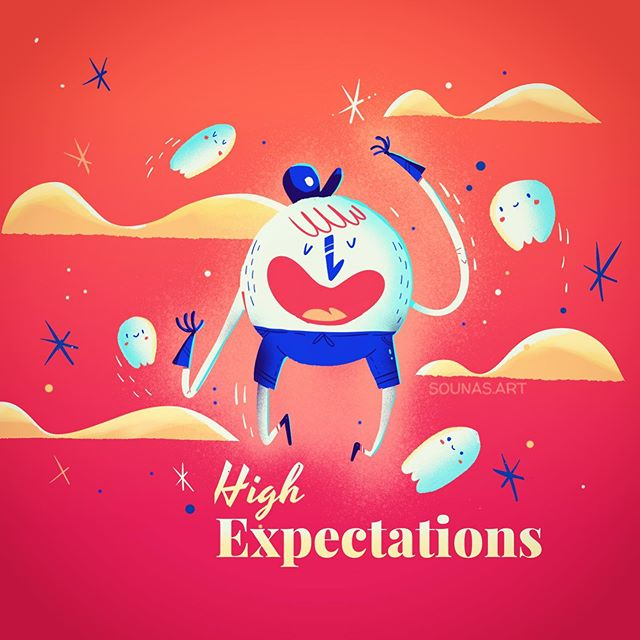:::High Expectations -Υψηλές προσδοκίες::: ipad art made with Tayasui Sketches #happy #ipadart #dailyart #instart #made_in_sketches #tayasuisketchesapp #tayasuisketches #εικονογράφηση #σχέδιο ##sounasart #character #illustration_daily