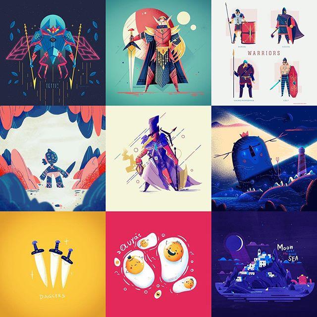 :::Top nine instagram photos for you::: #topnine #illustration #2019 #topnine2019
