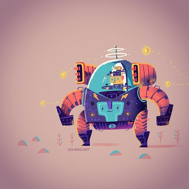 :::A new robot illustration::: ipad art with Tayasui Sketches