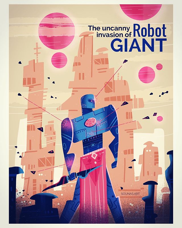 :::Robot Giant - illustration made with Tayasui Sketches on ipad::: ...#tayasuisketches #made_in_sketches #illustration #εικονόγραφηση #sounasart #robot #warrior #space #drawing #ipadart #dailyart #illustragram
