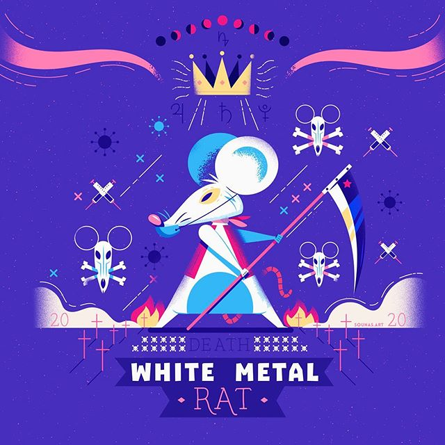 :::The White Metal Rat 2020:::...#chinese #chinesevirus #coronavirus #illustration #κορωνοϊός #εικονογράφηση #dailyart #pixelcart #death #virus #mouse #rat #drugs #vector #adobedrawing #adobeillustrator #adobephotoshop #sounasart #vectorart #digitalart