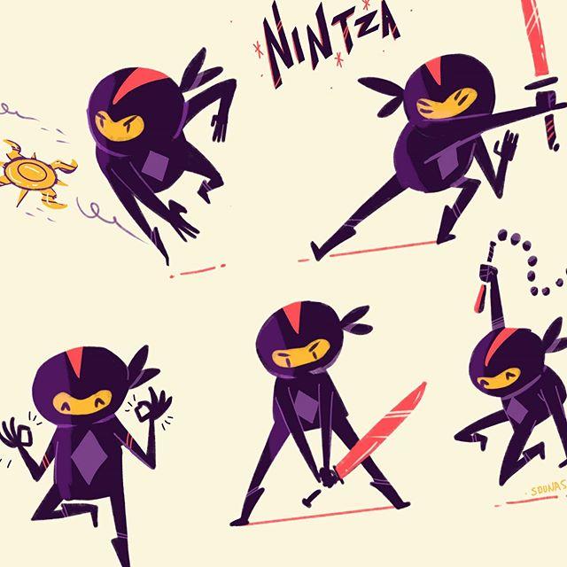 :::Νιντζάκια - Ninja character:::..#ninja #characterdesign #procreate #ipadart #funny #illustration #νίντζα #εικονογράφηση #sounasart #sounas #dailyart #instaart #characterart #characterconcept #conceptart