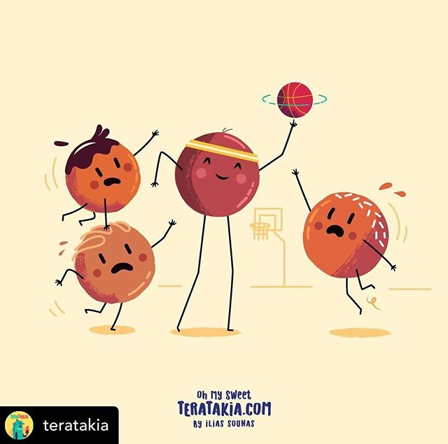 Teratakia.com is a new website I have created with hungry monsters and happy sweets.  If you want to check weekly updates, feel free to follow @teratakia ...@teratakia 01. Chocoballs & Basketball  #illustration #teratakia #vector  #characterdesign