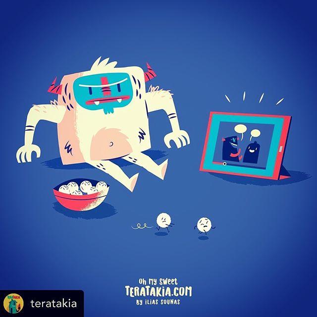 @teratakia 02. Running white candy balls..#illustration #vector #sounasart #characterdesign #chocolate #monster