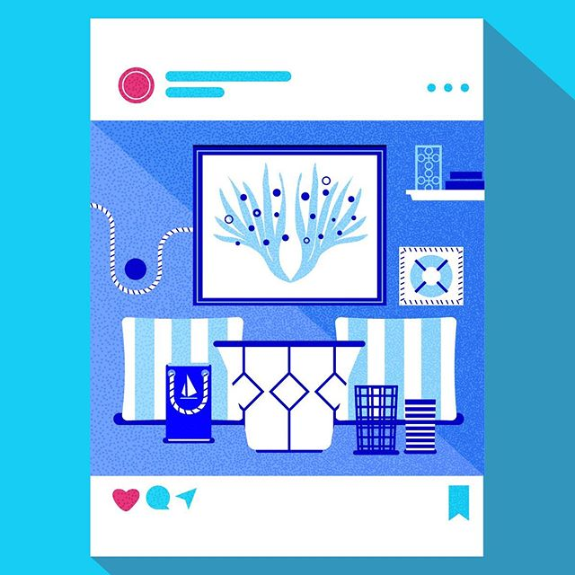 :::Coastal Living - graphics for  #instahome infographic:::..#infographic #flatillustration #vector #vectorart #vectordaily #adobeillustrator #sea #ocean #livingroom #decoration #εικονογράφηση