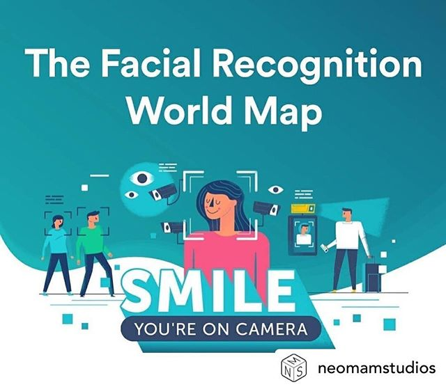 "Repost of @neomamstudios post.This is a nice set of maps I designed about facial recognition technology around the world.Original text:""There's a good chance that you've been watched, scanned, or analysed by facial recognition technology — potentially without even realising it.We worked with @surfshark to map out the ways facial recognition technology is used across 194 countries.Smile! You're on camera."" #facialrecognition #map #surveillance #technology #privacy #security #maps #illustrations #visualization #government #illustration #infographic #mapdesign"