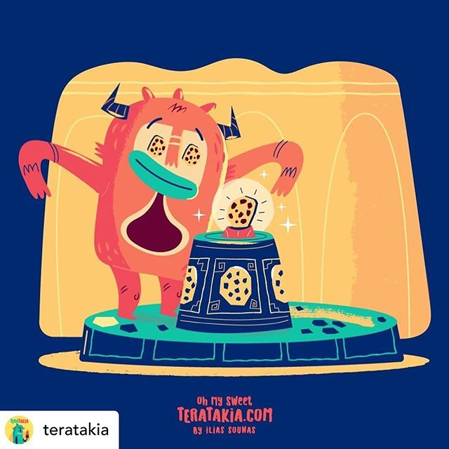 Repost of @teratakia 28. Sacred Cookie, Yummy!  .Visit Teratakia.com for more artwork! . .#teratakia #sounasart #icecream #cookies #cookiemonster #illustration #vector #funny #vectorillustration #comic #instaart #illustration #adobeillustrator #cartoonnetwork #vectorart #characterillustration #characterart #sweets #candies #cute #doodle #characterdesign #cartoonart #illustratorsoninstagram #artoftheday
