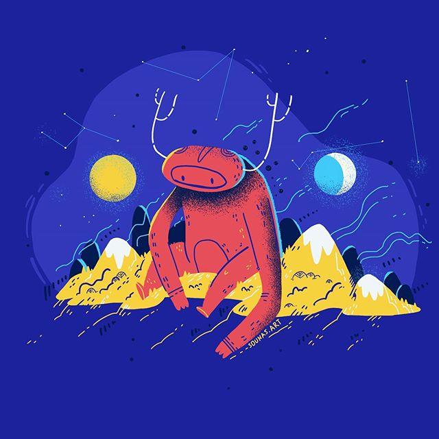 :::The thinker:::Procreate illustration - swipe to check the timelapse video...#illustrationforkids #illustragram #sounasart #monstercharacter #mountains #procreate #ipadart #illustration #εικονογράφηση #σχέδιο #εικονογράφηση #illustration_daily #illustration_best #illustrationartists #illustration_the_best #childrenillustration #dream #thinker